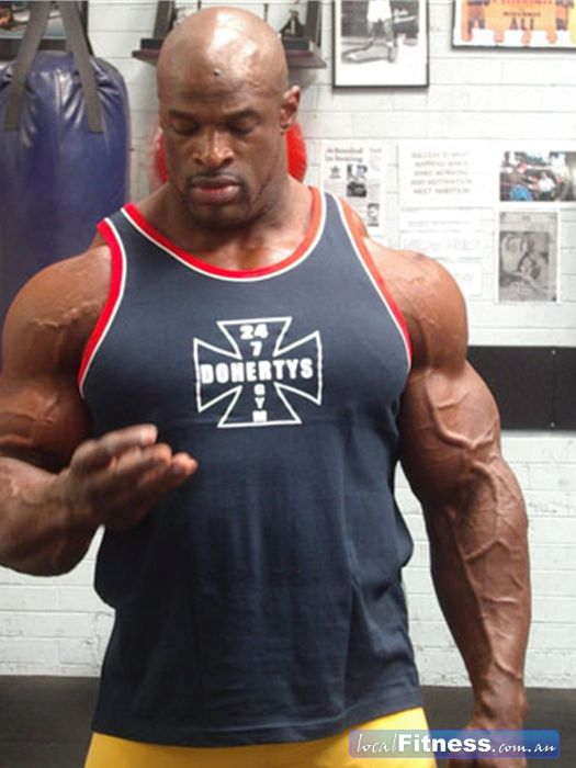 Doherty's Gym Brunswick The biggest and the bets, 8 X Mr Olympia Ronnie Coleman.