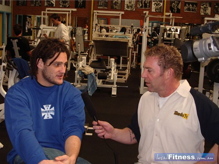 Doherty's Gym Near Moreland Brendan Fevola and Tony Doherty, Muscle TV.