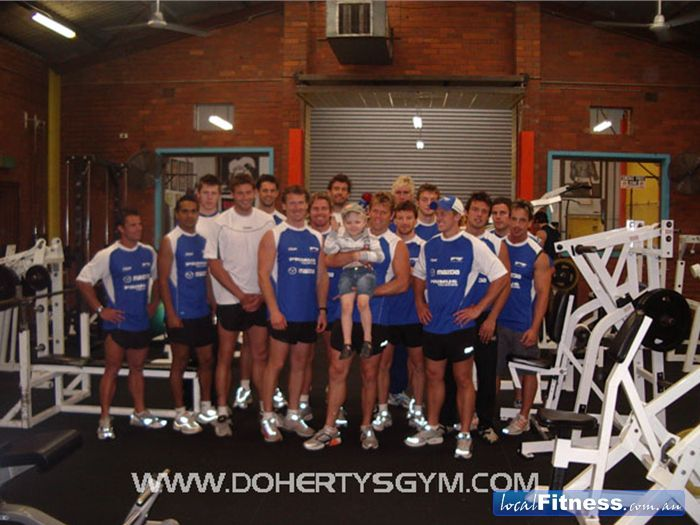 Doherty's Gym Near Coburg The Kangaroos, Doherty's regulars.