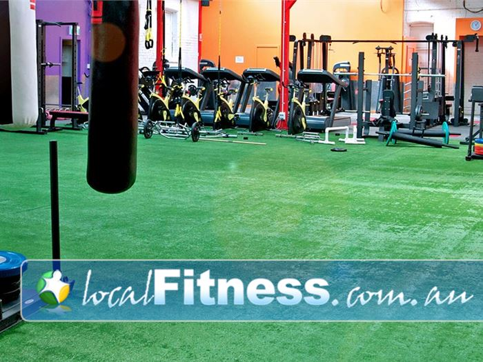 Ultimate You Fitness Near Docklands The indoor bootcamp training environment at Ultimate You Fitness Southbank.