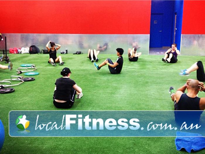 Ultimate You Fitness Southbank Outdoor training indoors with our indoor grass feel.