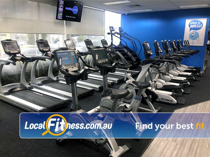 Genesis Fitness Clubs Belmont Genesis Dandenong provides a state of the art Cardio theatre setup.
