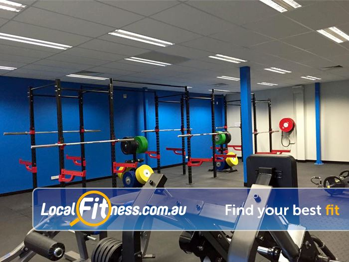 Genesis Fitness Clubs Near Cloverdale Cross Rig and squat racks.