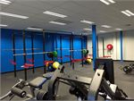 Genesis Fitness Clubs Cloverdale Gym Fitness Cross Rig and squat racks.