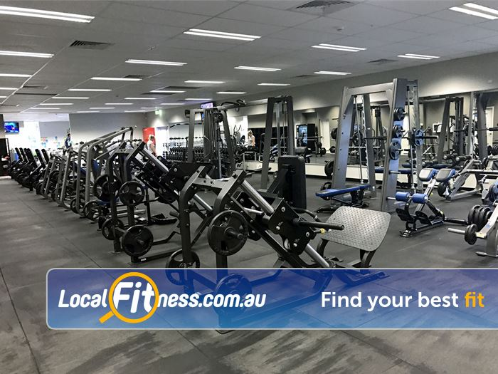 Genesis Fitness Clubs Near Redcliffe Enjoy free-weight training with heavy duty plate loading machines.