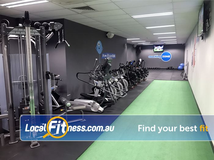 Genesis Fitness Clubs Near Redcliffe Indoor running/sled track in our Belmont gym.
