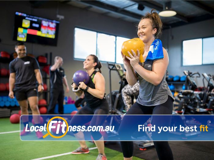 Genesis Fitness Clubs Belmont Add ployometrics, kettlebells, ropes and more to your training sessions.