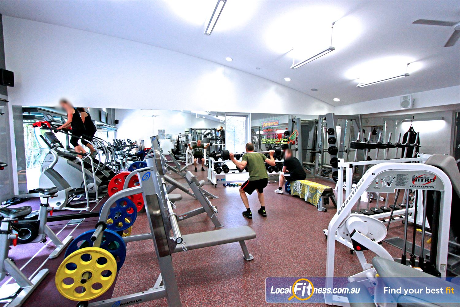 Monbulk Aquatic Centre Near Mount Evelyn Heavy duty benches for your free-weights training.
