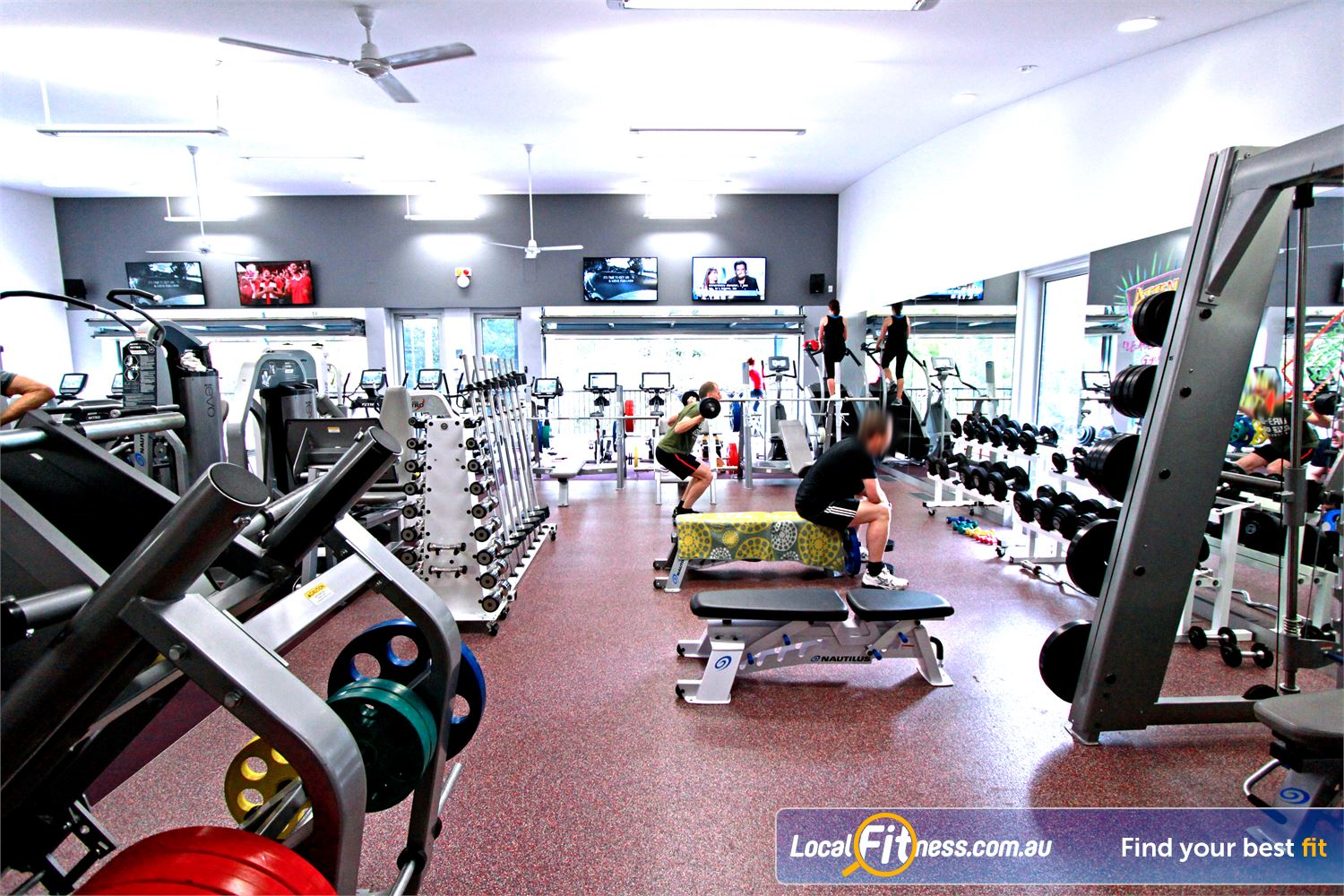 Monbulk Aquatic Centre Monbulk The comprehensive free-weights area in our Monbulk gym.