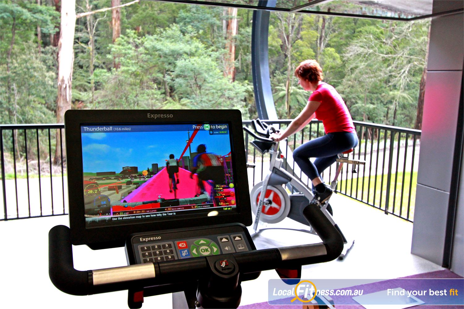Monbulk Aquatic Centre Monbulk State of the art equipment with the Expresso virtual cycle bikes.