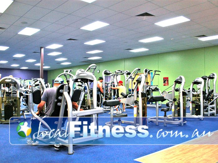 Genesis Fitness Clubs Cranbourne Easy to use pin-loaded equipment.