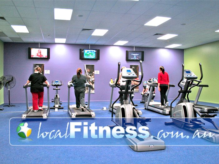 Genesis Fitness Clubs Cranbourne Fully equipped ladies only cardio theatre.