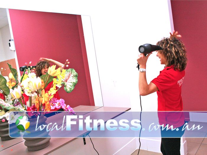 Genesis Fitness Clubs Near Junction Village Clean and modern bathroom facilities.
