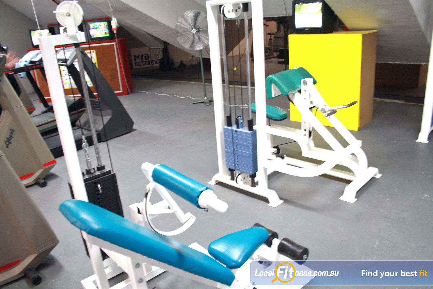 Docklands Gym & Squash Centre Near Carlton Our Docklands gym includes a pin-loaded lower back and bicep curl machine.