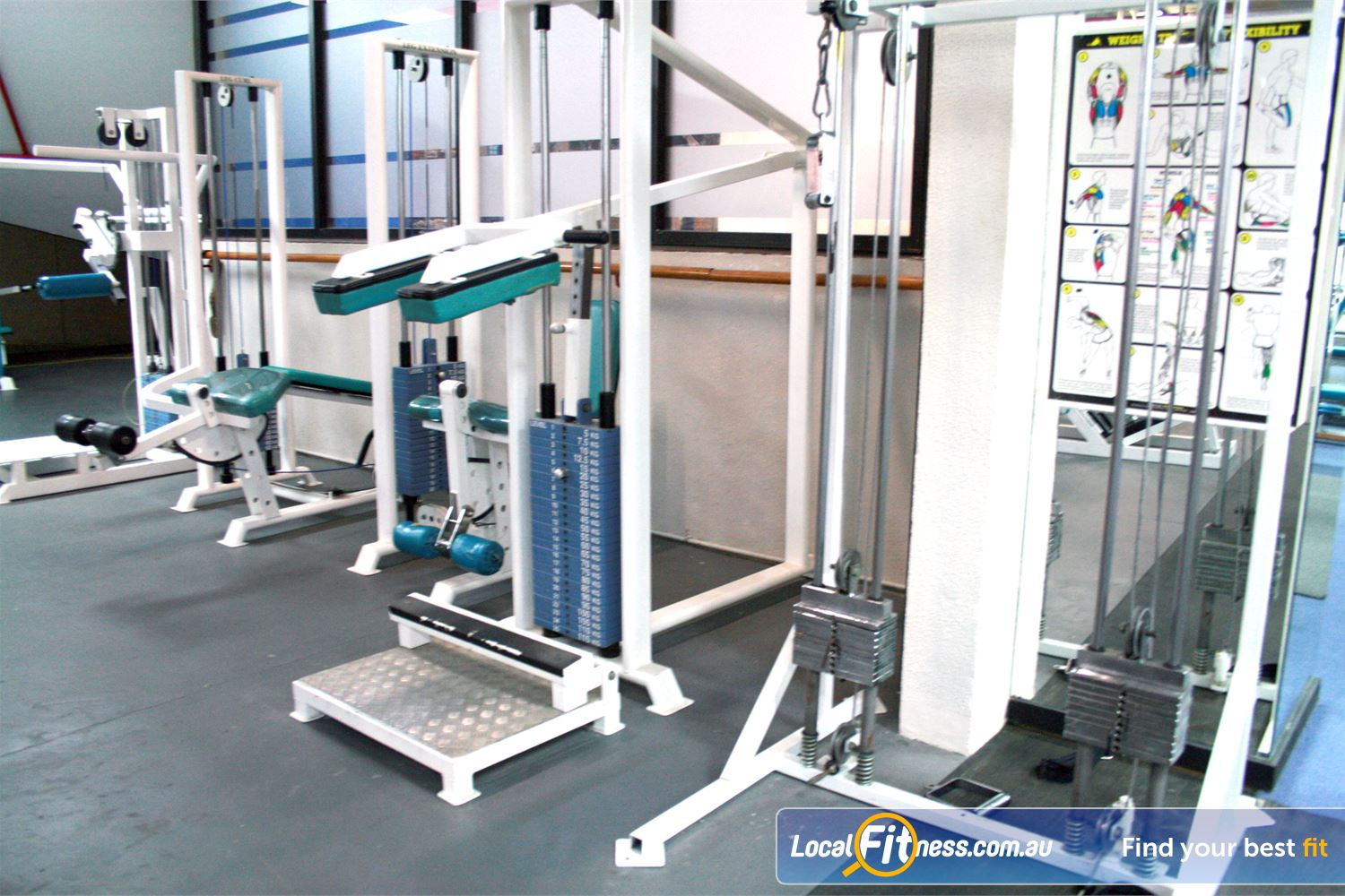 Docklands Gym & Squash Centre World Trade Centre Our Docklands gym is fully equipped for strength training.