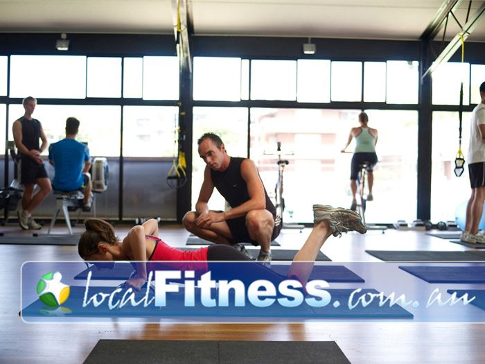 Damien Kelly Fitness Studio Bondi Junction Primal movements are key and include pushing, twisting and whole body movements.