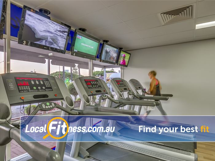 Ontic Health & Fitness Wellington Point Tune into your favorite shows while you train.