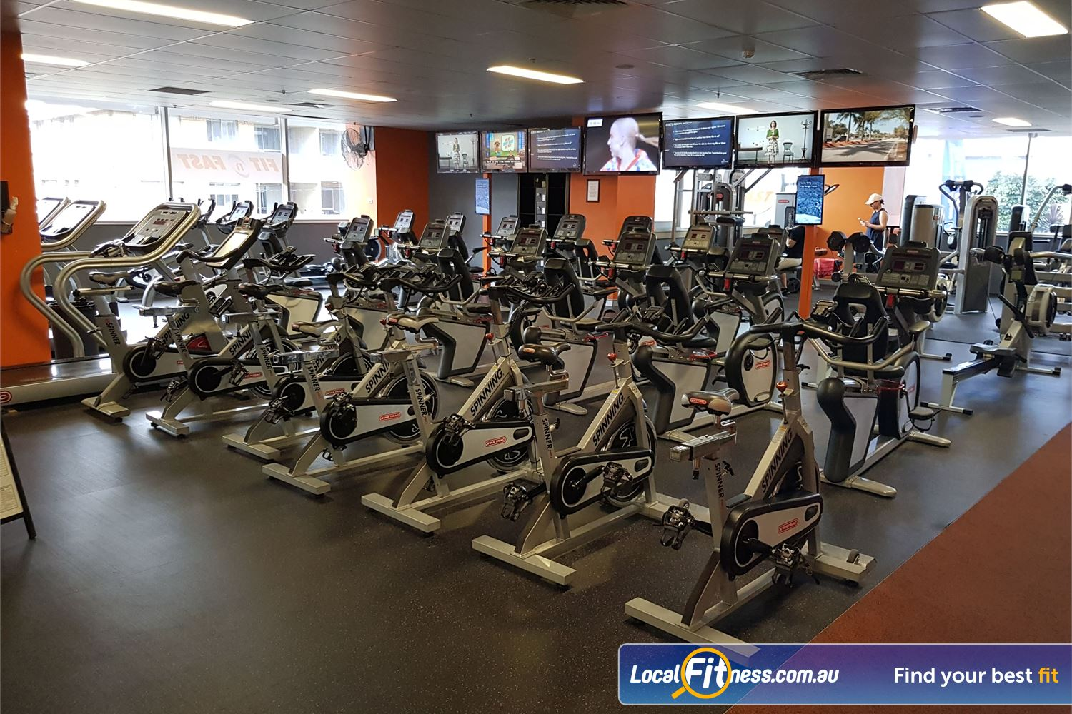 Fit n Fast Burwood The state of the art cardio area at FNF Burwood gym.