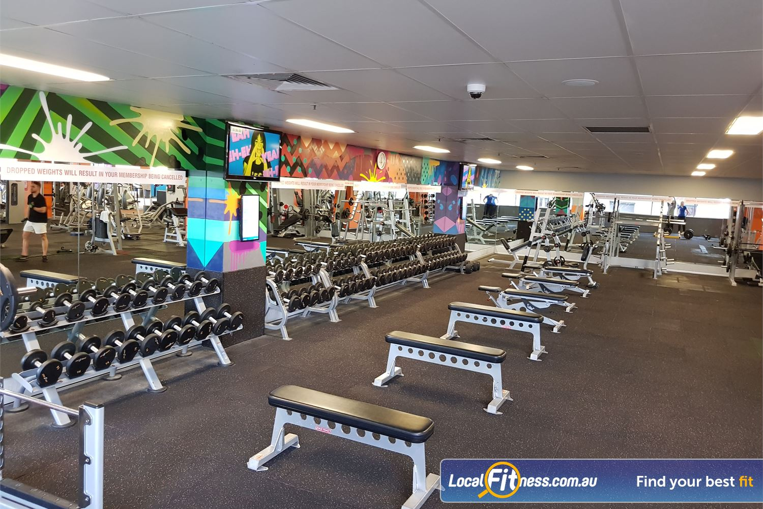 Fit n Fast Near Burwood Heights FNF Burwood NSW includes a fully equipped free-weights area.
