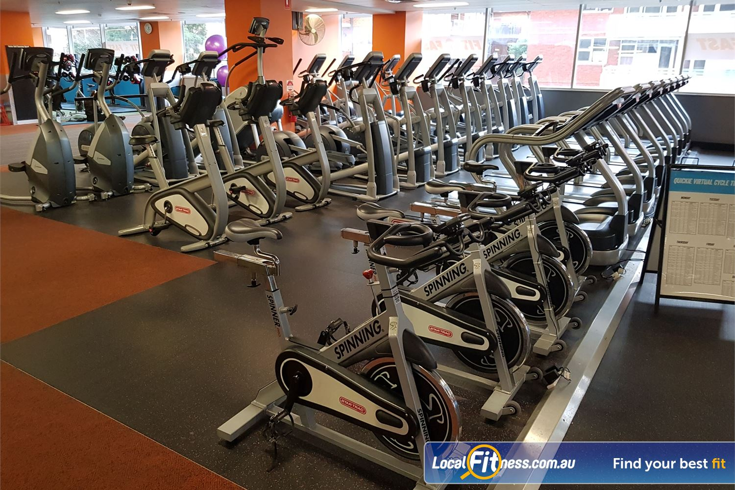 Fit n Fast Burwood Row and rows of cardio machines so you don't have to wait.