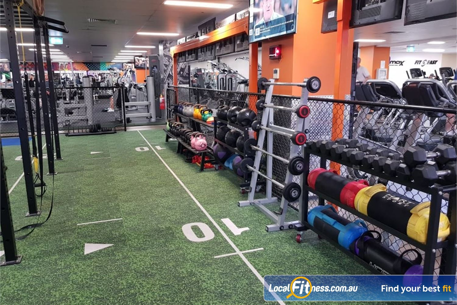 Fit n Fast Burwood TRX, kettlbells, power bags, battle ropes, medcine balls and more.