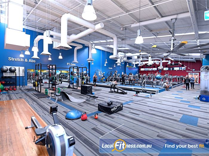 Goodlife Health Clubs Gym Fawkner  | The spacious Goodlife Essendon gym floor.