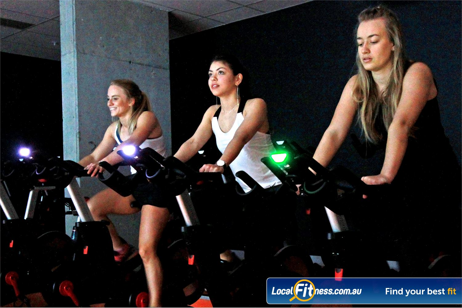 South Pacific Health Clubs Near Heatherton Training with the latest coach by colour technology to measure your intensity.