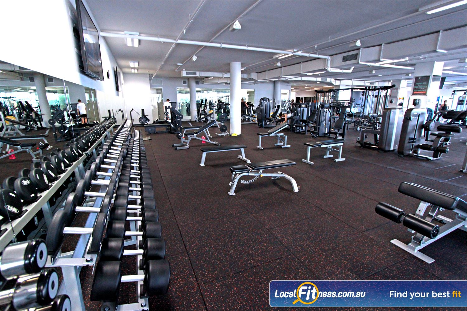 South Pacific Health Clubs Near Mordialloc Our 24 hour Mentone gym includes a fully equipped free-weights area.