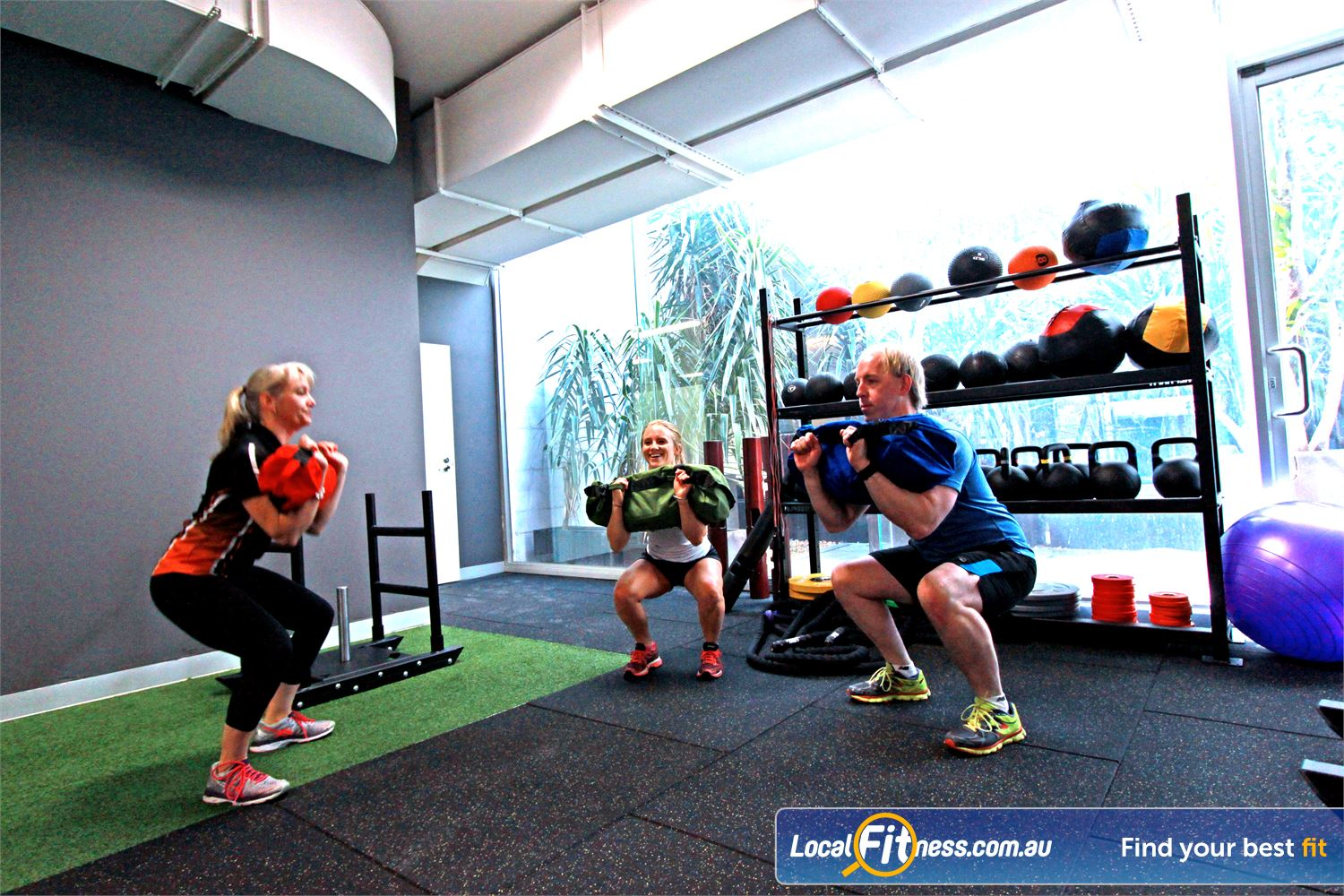 South Pacific Health Clubs Near Parkdale Small group personal training is a great way to get fit together with family or friends.