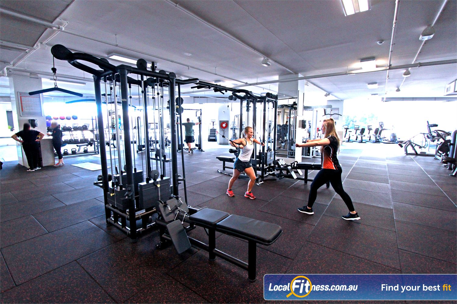 South Pacific Health Clubs Near Mordialloc The spacious and premium Menton gym is open 24 hours.
