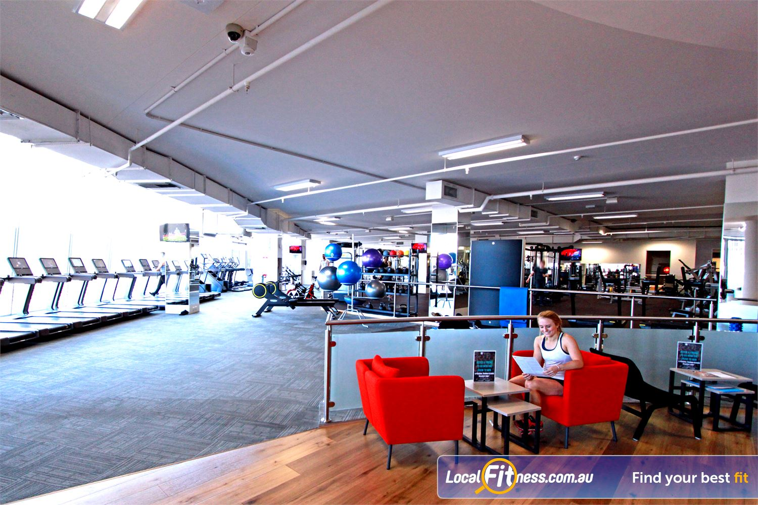 South Pacific Health Clubs Near Heatherton Our members lounge is a great place to meet up after your workout.