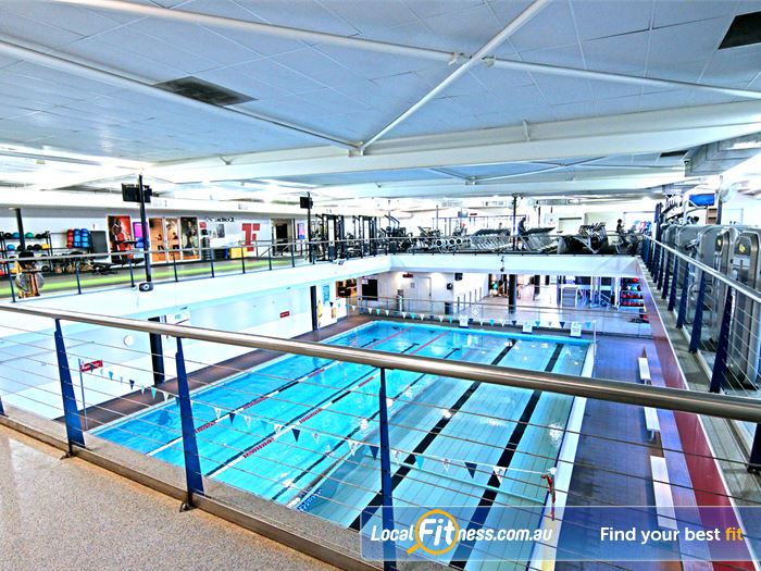 Fitness First Gym South Brisbane  | The beautiful Lutwyche gym setup surrounding our swimming