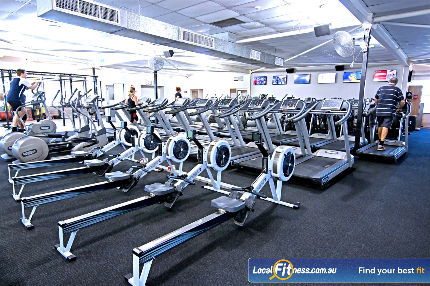 Fitness First Lutwyche Our Lutwyche gym includes a state of the art cardio theatre.