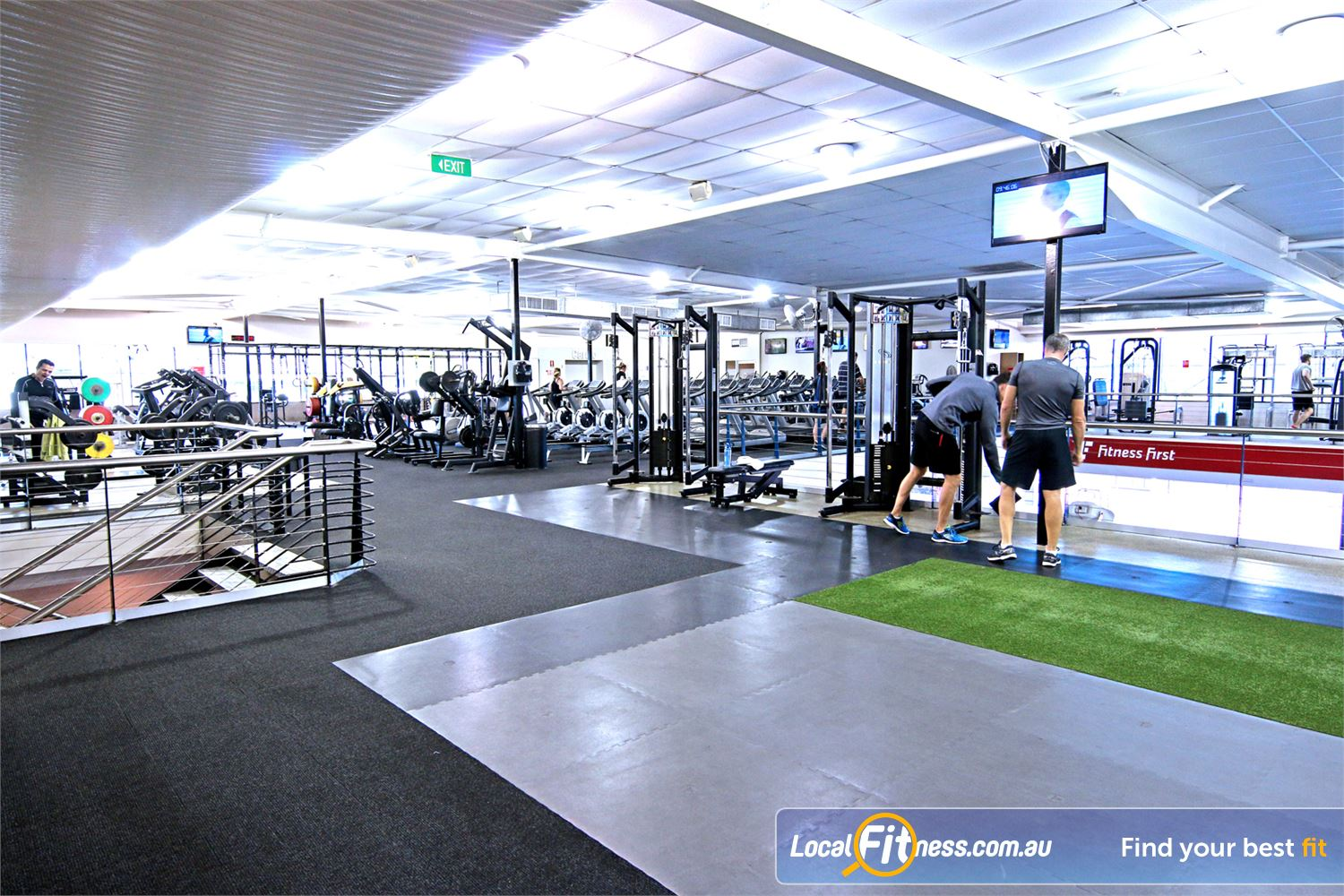 Fitness First Near Wooloowin The spacious Lutwyche gym floor is fully equipped for strength training.