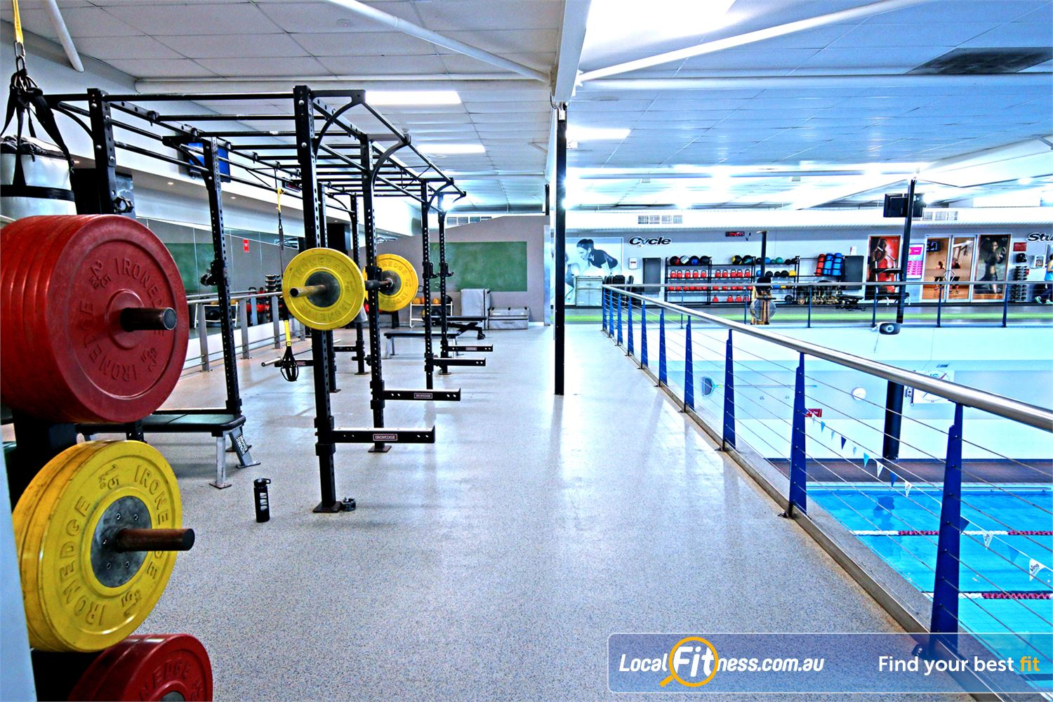 Fitness First Near Gordon Park Enjoy sweeping pool views from our Lutwyche gym floor.