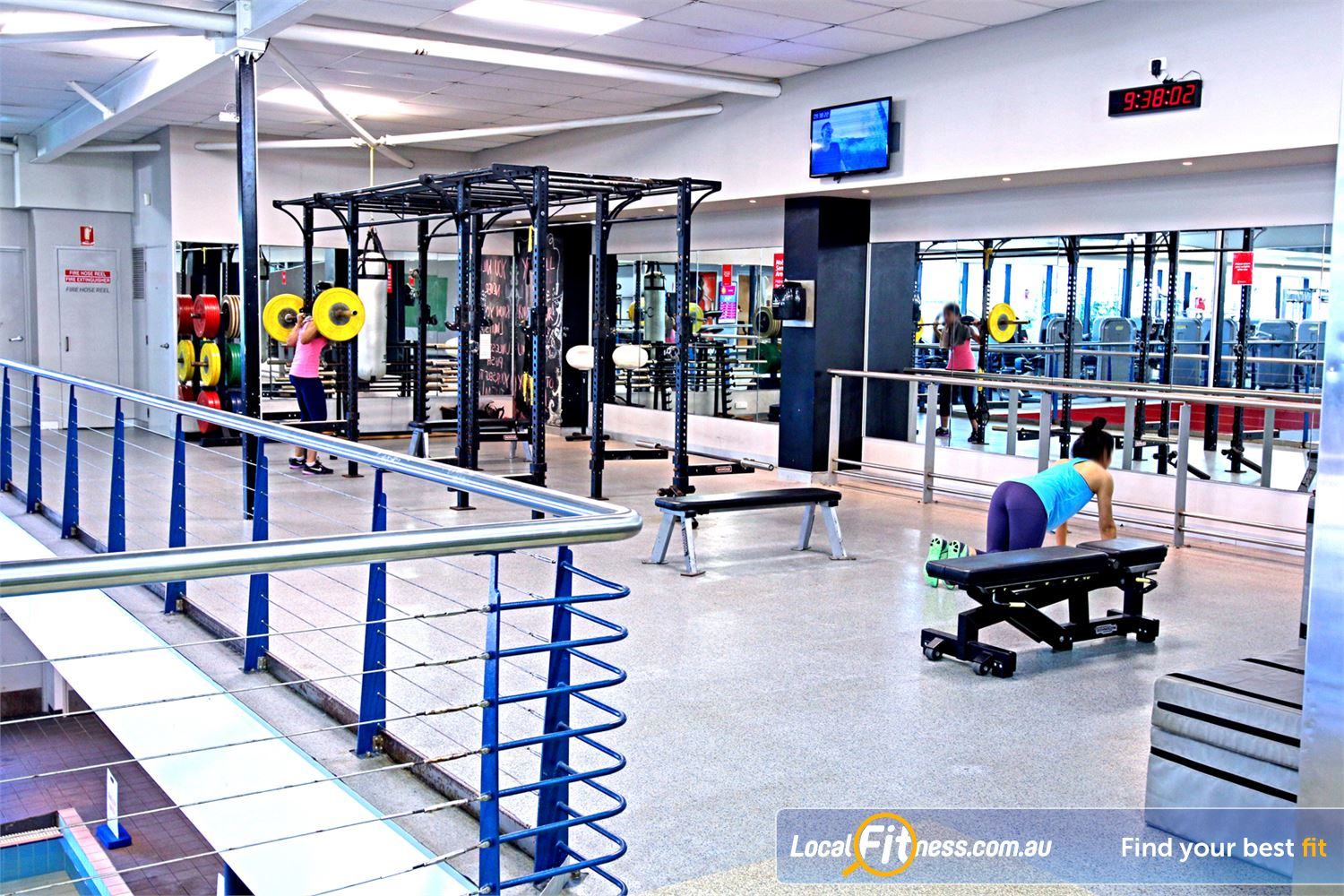 Fitness First Lutwyche The fully equipped free-weights area in our Lutwyche gym.