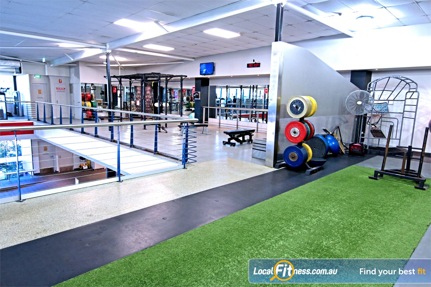 Fitness First Near Wooloowin The spacious functional freestyle area with functional training rig.