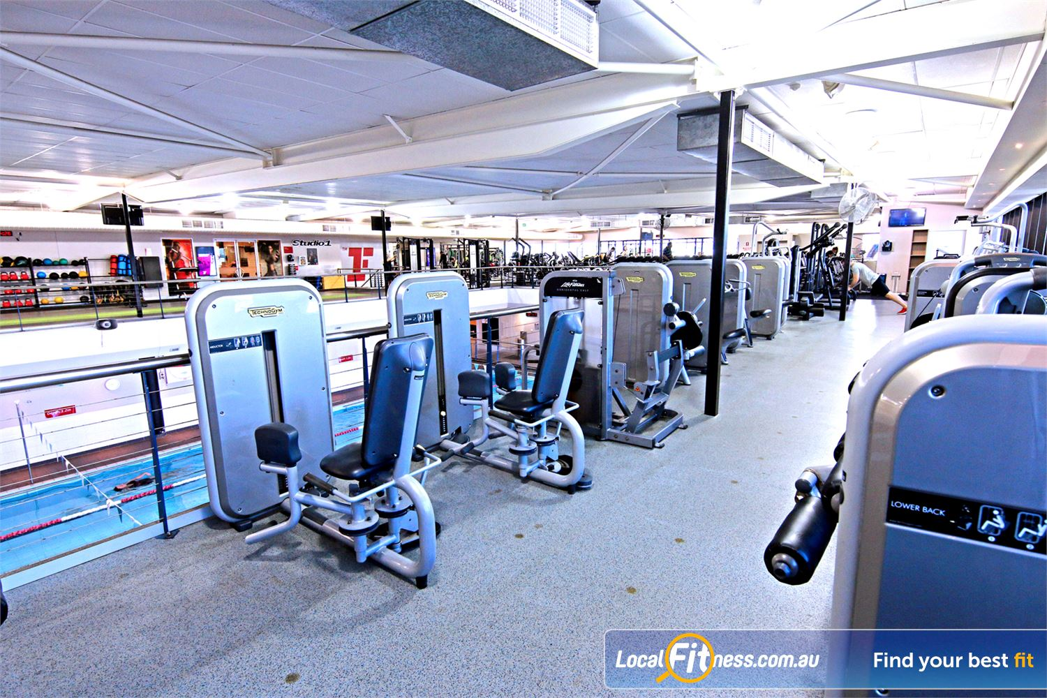 Fitness First Near Gordon Park Our Lutwyche gym is fully equipped with pin-loading machines for every muscle group.