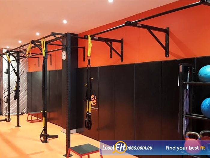 South Pacific Health Clubs HIIT Melbourne  | St Kilda Functional training rigg with TRX.
