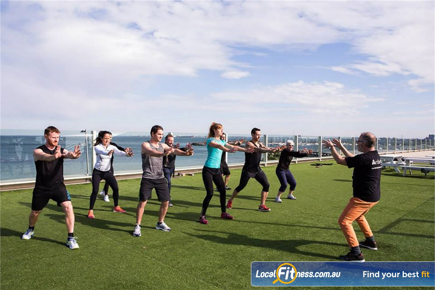 South Pacific Health Clubs Near St Kilda East Take advantage of the beautiful scenery and air with St Kilda outdoor training.