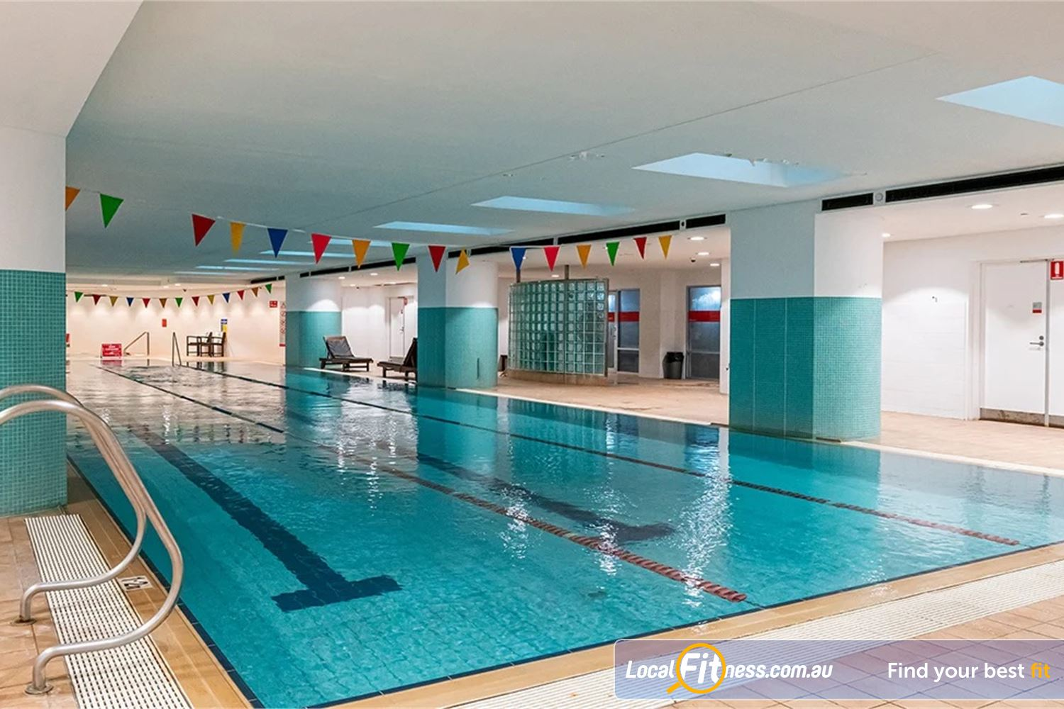 Fitness First Platinum Pitt St Sydney Relaxing lap lane swimming in our indoor Sydney swimming pool.