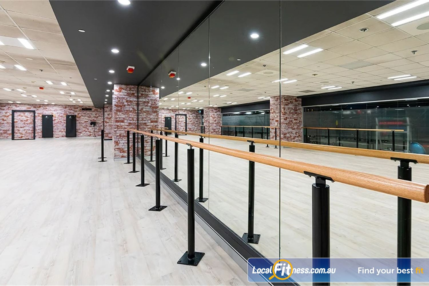 Fitness First Platinum Pitt St Near World Square Dedicated Yoga/Barre studio offering Pilates, Barre and more.