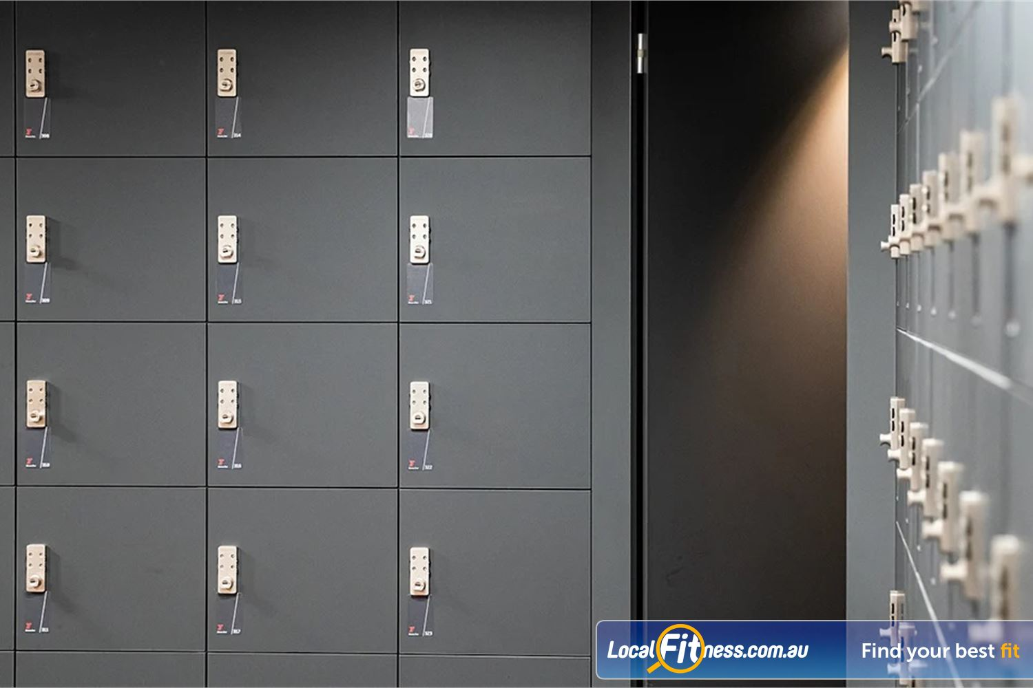 Fitness First Platinum Pitt St Sydney Exclusive storage lockers for our members and guest.