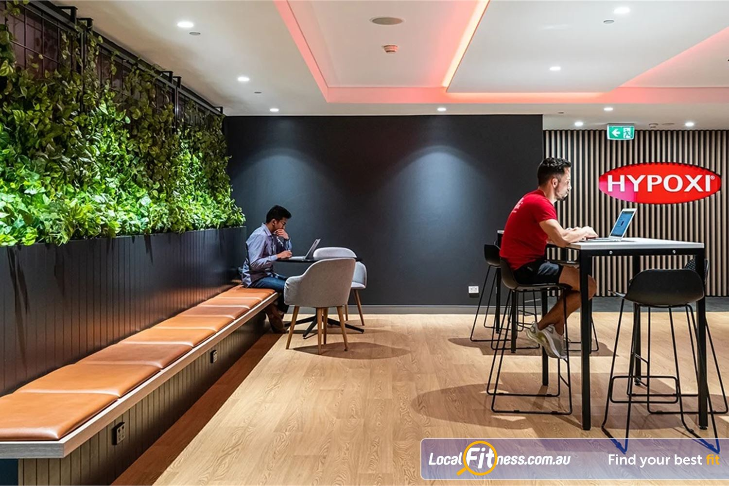Fitness First Platinum Pitt St Sydney Comfortable seating in our members lounge.
