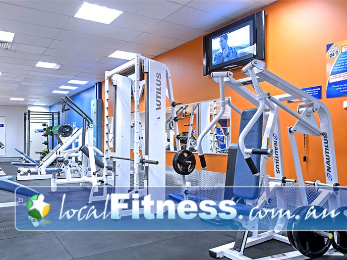 Plus Fitness 24/7 Near Glen Alpine State of the art Nautilus machines in our Campbelltown gym.
