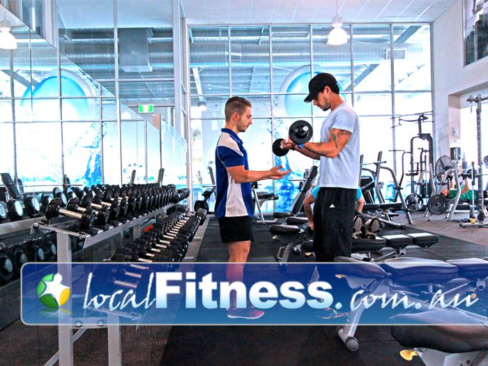 Kore Wellness and Swim Centre Melbourne Airport Gym Fitness Fully equipped with dumbbells,