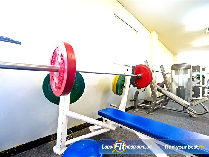 Bernie Mullane Sports Complex Gym Rouse Hill  | Heavy duty benches and squat racks.
