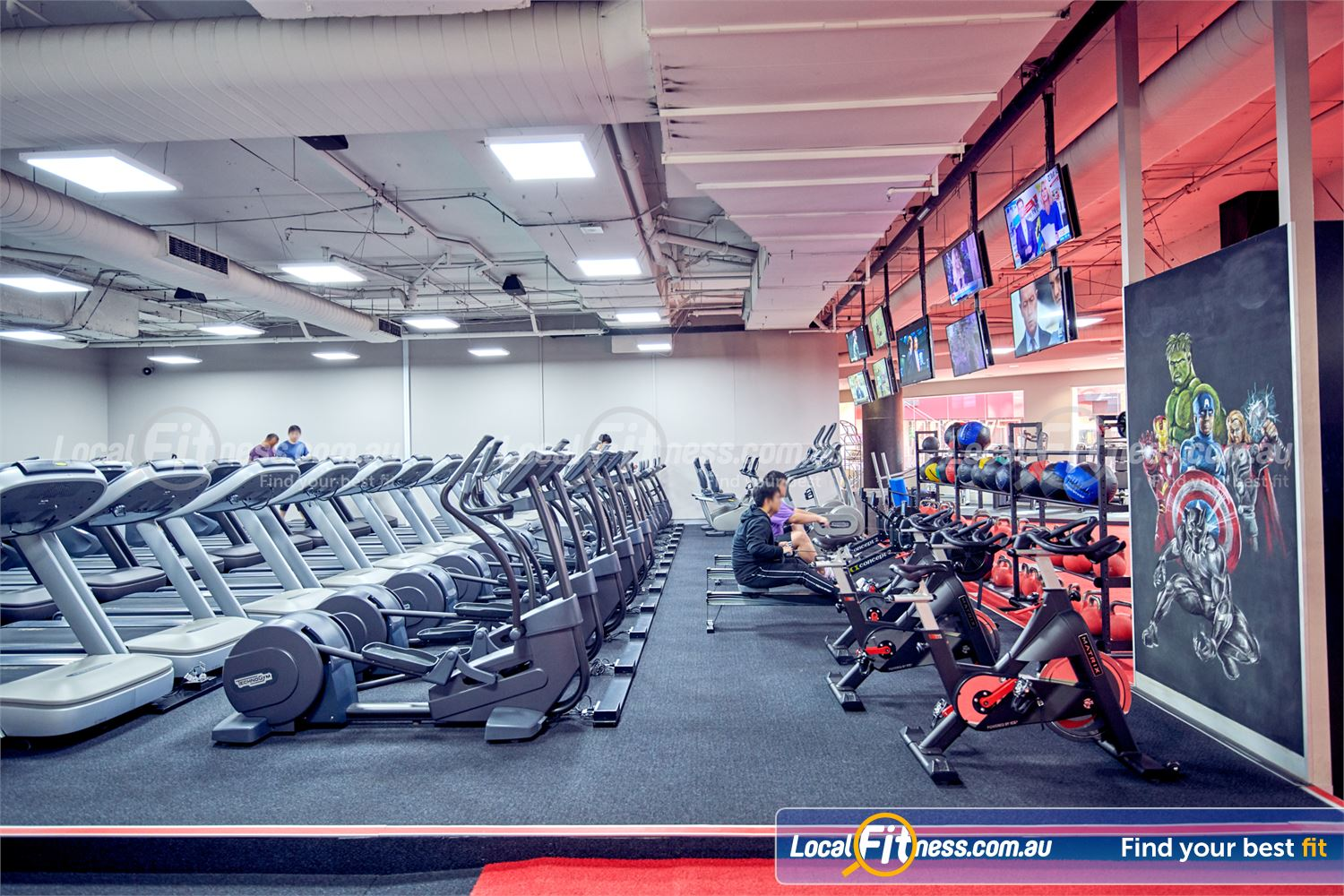 Fitness First Melbourne Central Platinum Melbourne Our Melbourne gym includes a state of the art cardio theatre.
