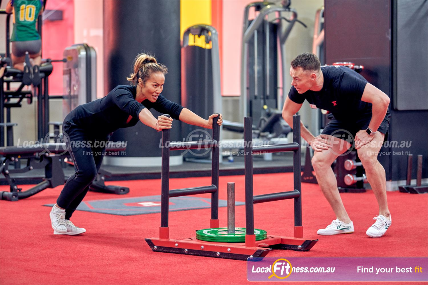 Fitness First Melbourne Central Platinum Melbourne The indoor sled track will help your workouts stay functional.
