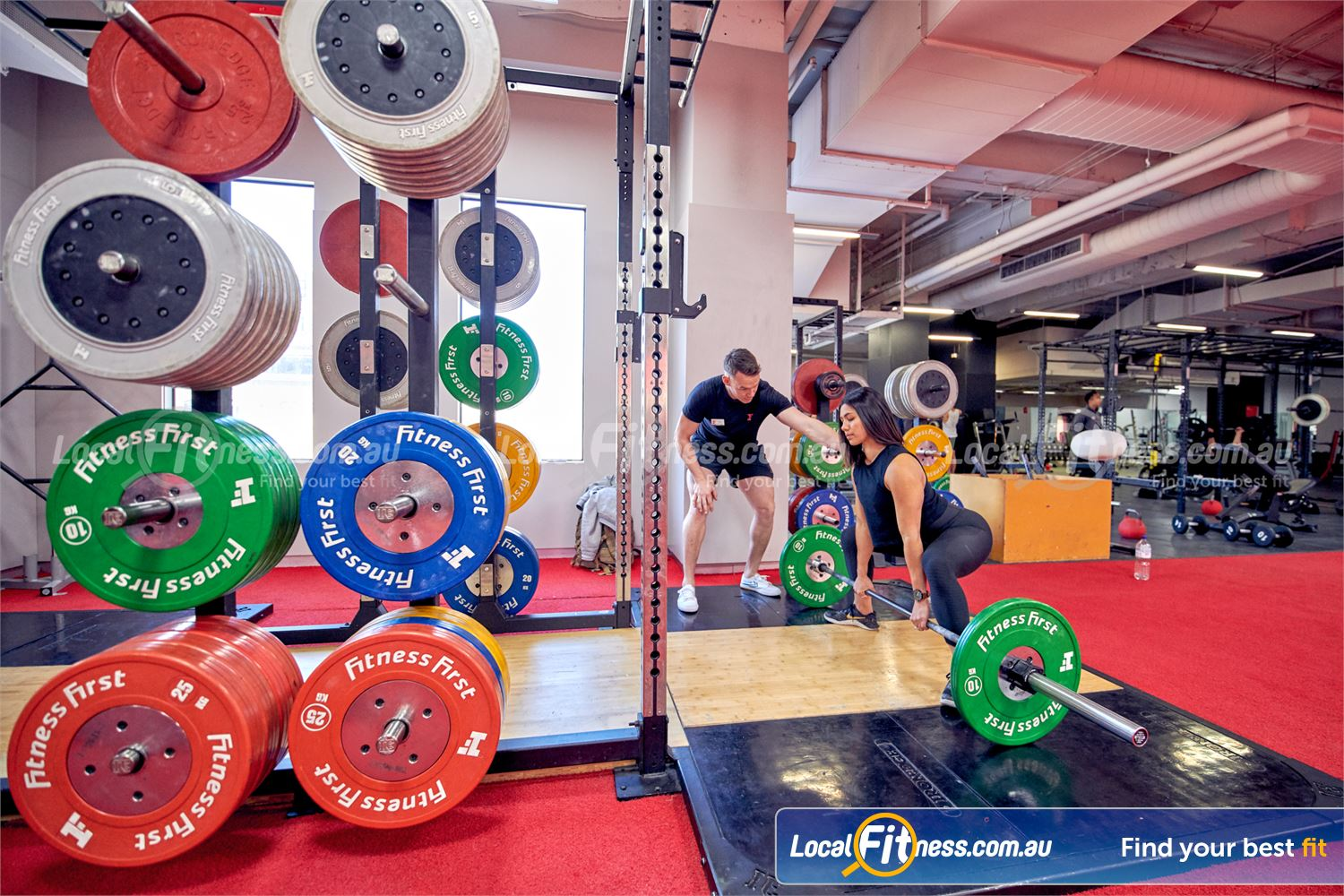 Fitness First Melbourne Central Platinum Melbourne Our Olympic lifting platforms are perfect for squats and deadlifts.